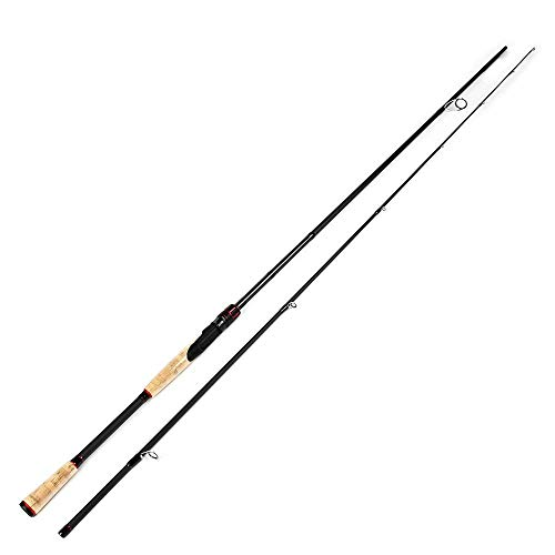Hayandy Rod Lure Fishing Spinning Pole C. W. 2-8 g, 3-15G, 5-20G, 10-30 g Angelrute 2 Abschnitte 100% Carbon Surper Hartangel-Black_10-30 2.7M (Color : Black, Size : 2-8G 1.98M)