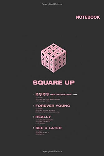 Blackpink quotes notebook: 110 Pages, Classic Lined pages, 6 x 9 inches, Blackpink Rubik Notebook Cover.