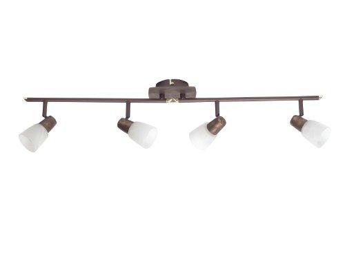 Brilliant, Spot luce con 4 faretti, girevole, 12.5 x 88 x 19 cm