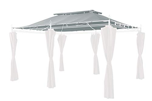 GRASEKAMP Qualität seit 1972 Ersatzdach zu Garten-Pavillon Inca 3x4 Grau Party-Zelt Terrassen-Dach