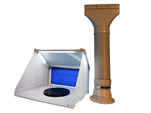 塗装ブース HS-E420DCLK 排気ダクト付き スプレーブース ペイントブース エアーブラシ用