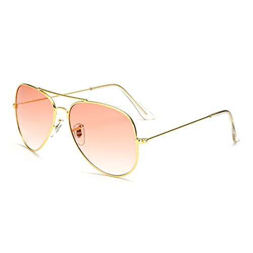 JSJJARD Gafas de Sol Gafas de Sol para Mujeres Hombres Unisex Conducción Deportes Pesca Metal UV400 Gafas de Sol Gafas Sombras 2021 (Frame Color : Other, Lenses Color : Rose Red)