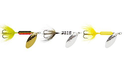 Yakima Bait Rooster Tail (3 Pack), White Coachdog/Firetiger/Yellow, 1/4 oz