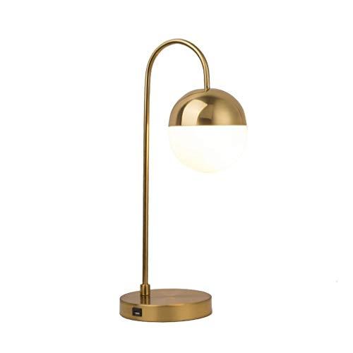 Lámpara de Mesa Lámpara de mesa de cristal redonda nórdica hogar sala de estar dormitorio creativa usb lámpara de noche Lámpara de Cabecera