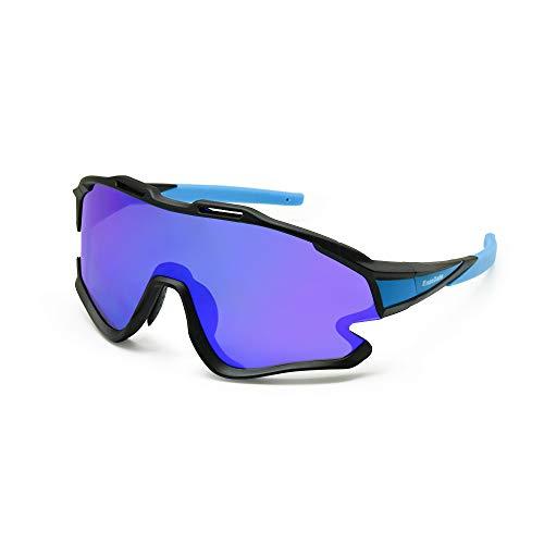EnzoDate Gafas polarizadas de la bici, para las gafas de sol al aire libre de los deportes de MTB de las gafas de ATV de las bicicletas de montaña con 3 lentes