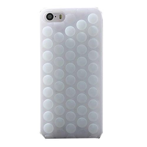 Case for iPhone 8,Funny Cute Pop Sound Popping Decompression Bubble Wrap Hybrid Silicone Puchi Puchi Hard Case Cover for Apple iPhone 8/7/iPhone SE 2020 (White)