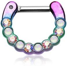 WildKlass Jewelry Opal Septum Clicker 14g 1/4