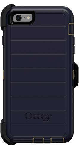 OtterBox Defender Series Rugged Case & Belt Clip Holster for iPhone 6s PLUS & iPhone 6 PLUS - Retail Packaging - Dark Lake - With Microbial Defense