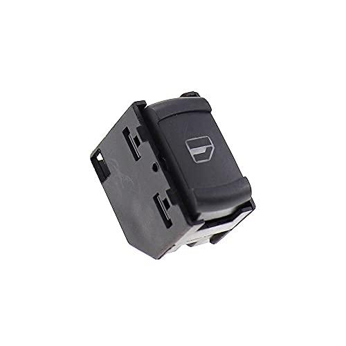 LPL Botón de Interruptor de Ventana Lateral eléctrica 1PCS Compatible con VW Volkswagen Golf MK4 Jetta Passat B5 Skoda Octavia 1996-2010 3B0959855 3B0 959 855