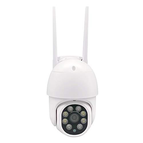 Wetterfeste WiFi Überwachungskamera Aussen, 360° Drehen PTZ Kamera IP Dome Kamera, Zwei-Wege-Audio 30m IR-Nachtsich, Menschenerkennung und Bewegungsverfolgung
