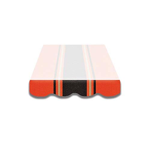 Home & Trends Markisen Volant Markisenbespannung Ersatzstoffe Mehrfarbig Maße 4 x 0.23 m Markisenstoffen fertig genäht mit Bordeux (SPD071)