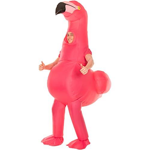 Morph Disfraz de Aves Inflable Gigante Flamenco de Halloween Animal para Adultos