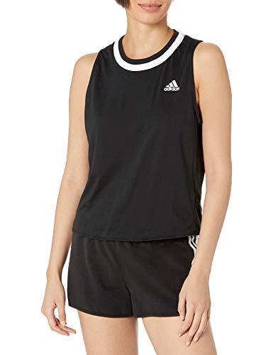 adidas womens Club Knot Tank Black/White Small