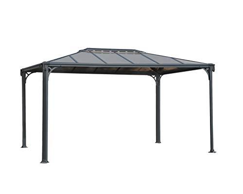 Palram Martinique 3600 Gartenpavillon: Höchst Widerstandsfähig, Hardtop Pavillon 360x296cm. Robuste Aluminiumkonstruktion Mit Dach Aus Polycarbonat. Ideal Als Freistehende Überdachung.