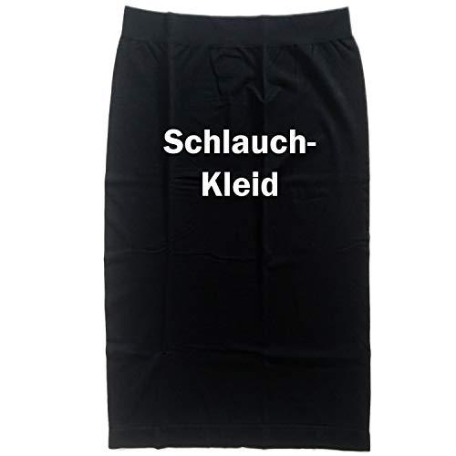 Damen Kostüm Schlauchkleid Kleid schwarz Basic Kleid Fasching Karneval figurbetont (42/44)
