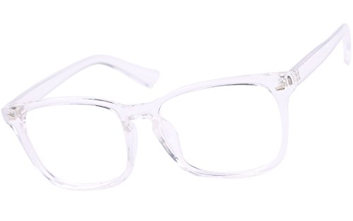 Agstum Classic Full Rim Plain Glasses Frame Eyeglasses Clear Lens