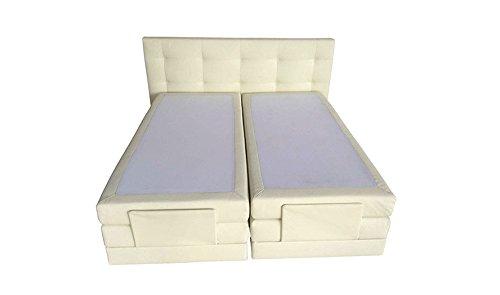 Ecobedding Boxspring Bett Lattenrost Relax-Kopf 180x 210cm in beige