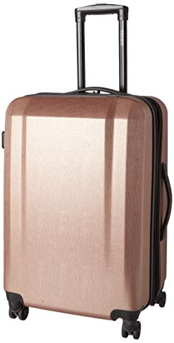 Travelers Club Check-in Suitcase, Rose Gold
