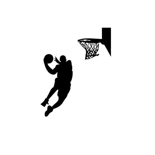 KDSMFA - Pegatinas de pared para jugadores de baloncesto (vinilo extraíble, 43 x 54 cm)