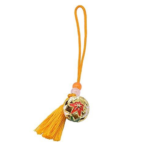YYZS Japanische Omamori-Glocke, Gute Glücksglocke, Amulett, Glücksornament, Amulett des Glücksbringerschreins, für Liebeserziehung Reichtum Gesundheit,Yellow