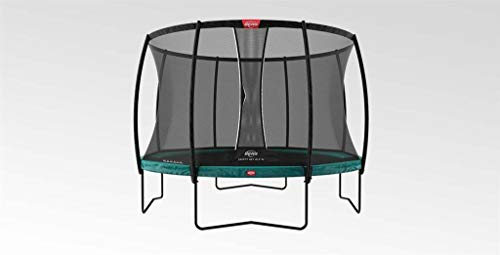 Berg Trampolin Champion 430 inklusiv Sicherheitsnetz Deluxe XL | Gartentrampolin, mit Airflow und TwinSpring, Trampolin Outdoor mit Sicherheitsnetz, Trampolin Kinder, Kinder Trampolin für den Garten