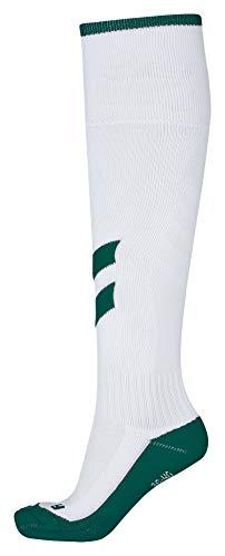 hummel Calcetines de fútbol para niñ Classic Football Socks, Todo el año, Infantil, Color Blanco y Verde, tamaño 32-35