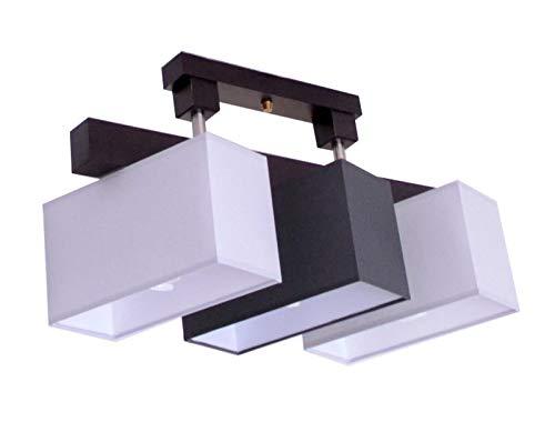 Deckenlampe Deckenleuchte Milano V3D Lampe Leuchte 3 flammig verschiedene Varianten (Grau-Graphit)
