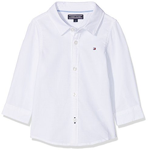 Tommy Hilfiger Tommy Hilfiger Baby-Unisex Delightful Oxford Boy Shirt L/S Bluse, Weiß (Bright White 123), 62