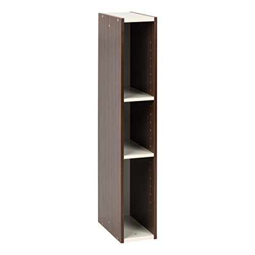 A slim shelf like this is perfect to use by your bed when you don't have any room for nightstands
