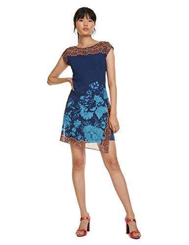 Desigual Damen Dress Short Sleeve Reset Woman Blue Kleid, Blau (Azul Ultramarin 5022), 46