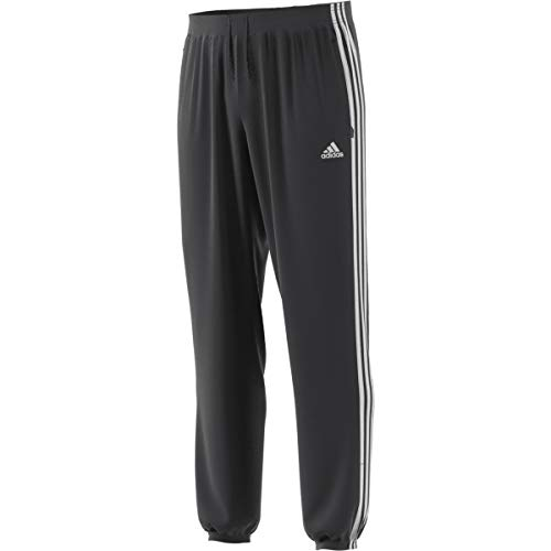 adidas Mens 3-Stripes Pants Wind Breaker Jogger Carbon White - DW9448