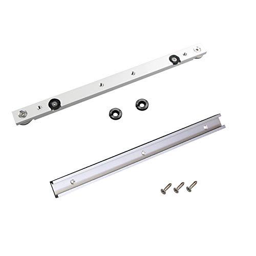 1 Set Binari a T in lega di Alluminio Slot Mitra Track e Mitre Bar Slider Table Saw Mitre Gauge Rod Strumenti per la Lavorazione del Legno per la Lavorazione del Legno Fai Da Te
