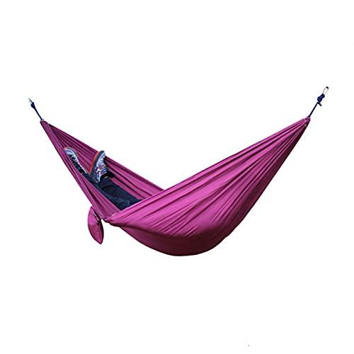FDSJKD Tragbare Camping Hängematte Doppel Hängendes Bett Leichter Nylon Parachute Hängematte Outdoor Survival Reise Freizeit Schlafen (Color : 5)