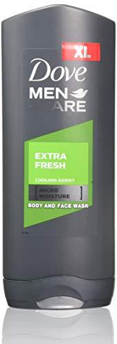 Dove Men Care Bagnoschiuma Extra Fresh, pacco da 3 x 400 ml