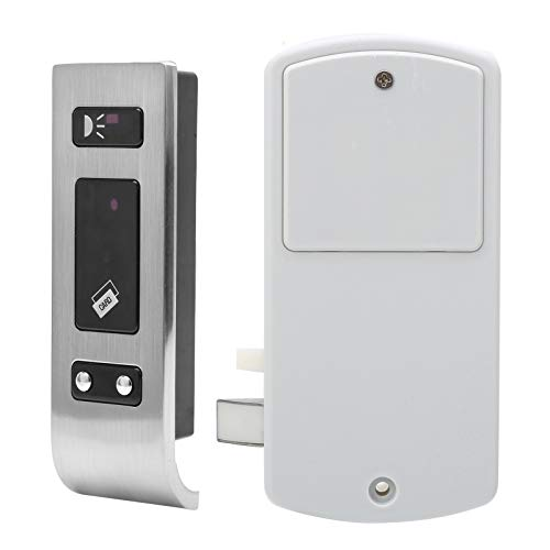 Cerradura sin Llave, Cerradura de Tarjeta EM de Alarma de bajo Voltaje Duradera, Dispositivo de Seguridad DC 4.5V Inteligente para Armario de baño, Sala de Sauna, archivador