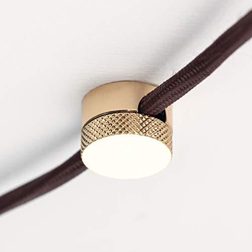 Distanzhalter Aufputz Kabelhalter aus Messing Kabelaufhängung für Textilkabel (gold)