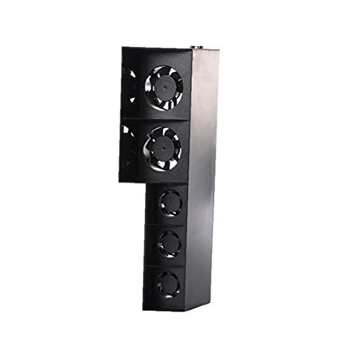 Konsolenkühler PS4 Kühllüfter Temperaturregelung 5 Lüfterhitze Abluftventilator für PlayStation 4 Konsole schwarz, Kühlkörper
