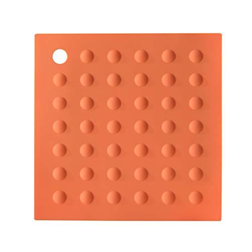 Dan&Dre Almohadilla de aislamiento térmico de silicona, soporte para ollas de silicona, almohadillas calientes, posavasos antideslizantes para mesa de cocina