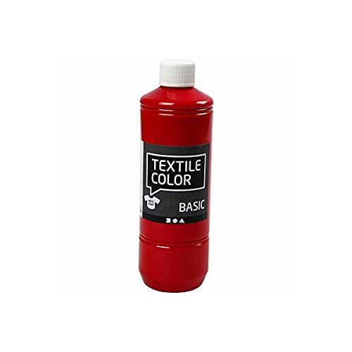 Color textil, rojo, 500 ml