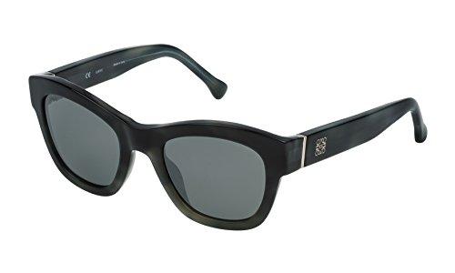 Loewe SLW969M5196NX Gafas de Sol, Brown/Beige Mop Havana, 51 para Mujer