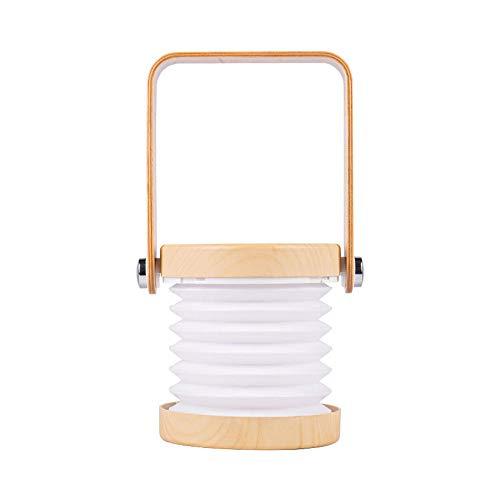 LED Linterna de Cámping, USB Batería Lámpara de Exterior con Silicona Plegable Botella de Almacenamiento, 3 Modos de Iluminación y Resistencia al Agua