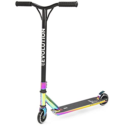 RAVEN Stunt/Freestyle Scooter, Roller, Tretroller, Cityroller Evolution Slick Series 100mm (Neochrome)