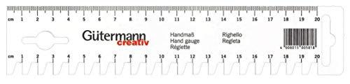 Gütermann Creativ Handmaß zum direkten Arbeiten an der Nähmaschine - 20 cm Skala, weiß