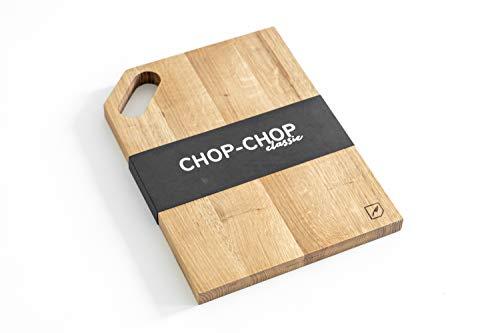 Rio Lindo Schneidebrett Classic 38x28x2 cm aus geöltem Eichenholz in Premium Qualität mit Tragegriff / 100% Handarbeit/Unikat/nachhaltiges Holzbrett/Servierbrett für die Küche