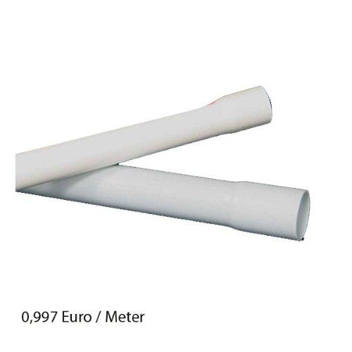 40m M40 40mm Kopos Elektrorohr Stangenrohr Leerrohr Elektrokabel-Rohr gemufft hellgrau PVC NEU