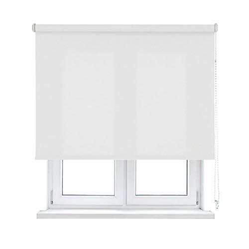 KAATEN Estor Enrollable translúcido-Básico, Textura, White, 180x250