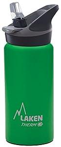 Laken Thermo Jannu Thermosflasche Isolierflasche Edelstahl Wasserflasche Trinkflasche weite Öffnung 750ml Grün