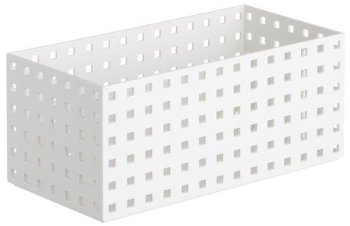 like-it 収納ケース ブリックス 280 ミドル L ホワイト 幅14x奥28x高12.5cm 9015