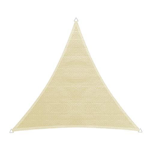 Windhager 10748 Capri Voile d'ombrage en Triangle 5 x 5 m (cuise) Protection Solaire pour Jardin et terrasse, résistant aux UV et aux intempéries, Champagne 5 x 5 m