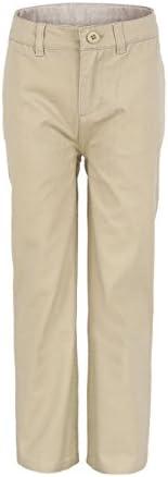 Bienzoe Boys School Uniforms Flat Front Twill Adjust Waist Trouser